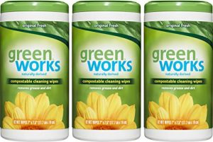 Green Works Compostable Cleaning Wipes, Biodegradable Cleaning Wipes – Original Fresh, 186 Wipes