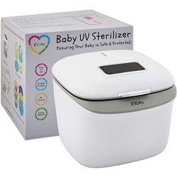 Bottle Sterilizer and Dryer | UV Baby Bottle Sanitizer | Hospital Strength Sterilizer Using UV Light | Sterilizes Anything in Minutes with No Cleaning Required | Touch Screen Control | FCC Approved