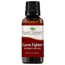 Plant Therapy Essential Oils Germ Fighter Synergy – Sinus Health and Cold Blend 100% Pure, Undiluted, Natural Aromatherapy, Therapeutic Grade 30 mL (1 oz)