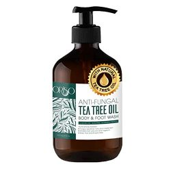 Tea Tree Oil Body Wash – Antifungal – Antibacterial Soap-Helps Athletes Foot – Toenail Fungus – Ringworm – Jock Itchy – Acne – Eczema – Yeast Infection – Body Odor – Itchy Skin – Sulfate Free – 16oz