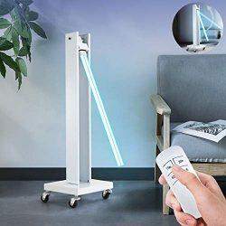 150W High Power UV Sterilization Lamp, Mobile 180 ° Adjustable Tube Germicidal Light, Commercial UV Disinfection Lamp, for Kindergarten Hospital Factory
