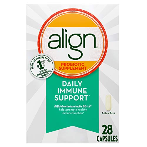 Align Probiotics Supplement and Daily Immune Support, 28 Capsules, Digestive Support for Men and Women