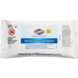 Clorox Healthcare Bleach Germicidal Wipes, 20 Count Soft Pack (31469)