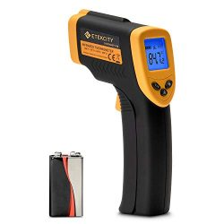 Etekcity Infrared Thermometer Lasergrip 749 Digital Laser Temperature Gun Non-Contact IR Thermometer-58℉~ 716℉ (-50℃ ~ 380℃), Yellow and Black