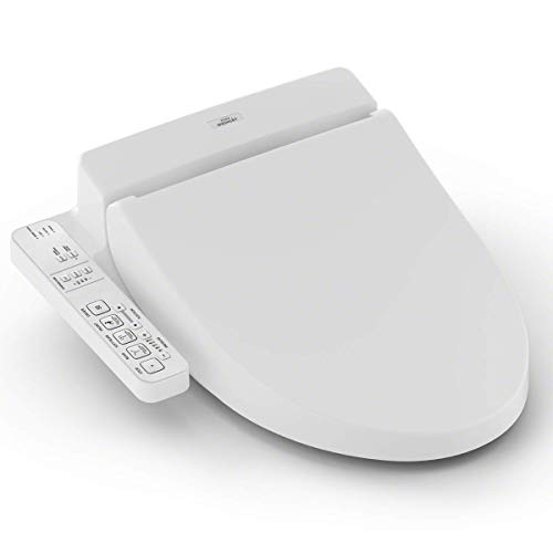TOTO SW2034#01 C100 WASHLET Electronic Bidet Toilet Seat, Elongated, Cotton White