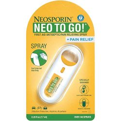 Neosporin + Pain Relief Neo to Go! First Aid Antiseptic/Pain Relieving Spray.26 Oz