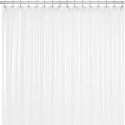 LiBa Mildew Resistant Anti-Microbial PEVA 8G Shower Curtain Liner (36×72, Frosted)