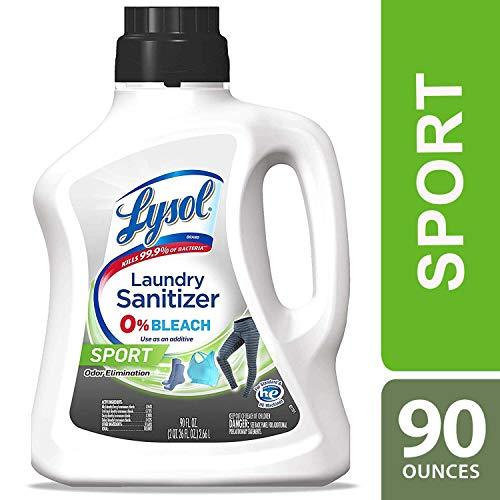 Lysol Laundry Sanitizer Additive, Sport, 90 Oz, malodor control technology, bacteria-causing odor eliminator, 0% bleach laundry sanitizer