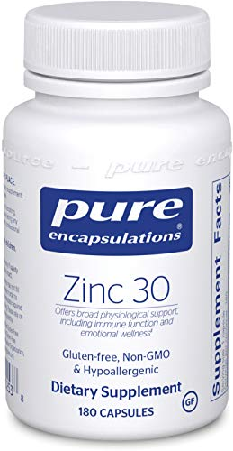 Pure Encapsulations – Zinc 30 – Zinc Picolinate (30 mg.) Highly Absorbable Hypoallergenic Supplement for Immune Support – 180 Capsules