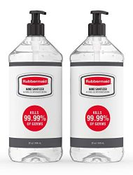 Rubbermaid Hand Sanitizer, Alcohol-Based, Pack of 2 Bottles, 32 Ounces Each, 2140739