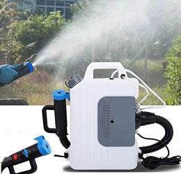 Dermal-Tech Fogger Machine Portable Electric Backpack Mister Sprayer Disinfecting máquina de desinfección portátil Suitable for Hospitals, Homes, Schools, Cars, Public Places (2.64 Gallon 10L)