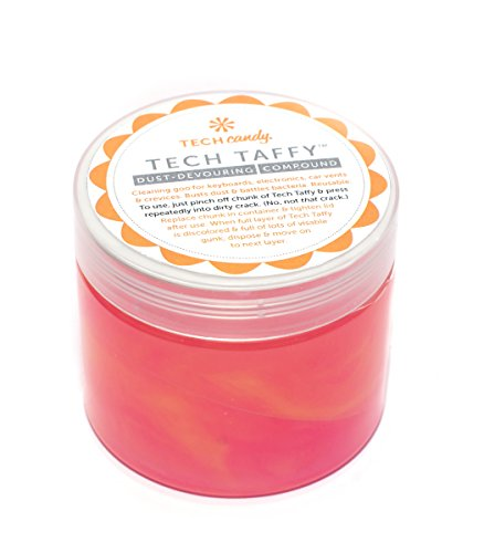 Tech Candy Taffy Ombre Cleaning Slime Cleans Dust from Keyboard and Computer and Automobile Cup Holders. Anti-Bacterial Disinfectant