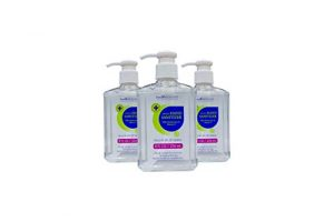 Health & Beyond Hand Sanitizer Gel with Moisturizers & Vitamin E | 62% Ethyl Alcohol |Kills 99.9% of Germs | 8 FL OZ | Pack of 3, Clear 24 Oz