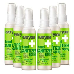 Everyone Hand Sanitizer Spray: Peppermint and Citrus, Travel Size, 6 count