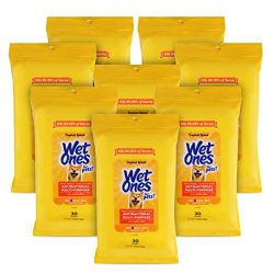Wet Ones for Pets Antibacterial Multi-Purpose Dog Wipes with Aloe Vera, 30 count – 8 pack | Antibacterial Dog Wipes for All Dogs in Tropical Splash Scent, Wet Ones Wipes with Wet Lock Seal