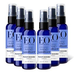 EO Organic Hand Sanitizer Spray: French Lavender, 6 count