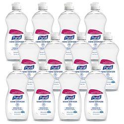 PURELL Advanced Hand Sanitizer Refreshing Gel, Clean Scent, 12.6 Fl Oz Bottle (Pack of 12) – 9747-12-S