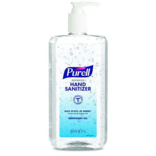 PURELL Advanced Hand Sanitizer Refreshing Gel, Clean Scent, 1 Liter Pump Bottle (Pack of 1) – 9632-04-CMR