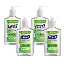 PURELL Advanced Hand Sanitizer Naturals with Plant Based Alcohol, Citrus Scent, 12 fl oz Pump Bottle (Pack of 4) – 3623-06-EC2