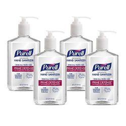 Purell Prime Defense Advanced Hand Sanitizer, Essential Protection, 12 fl oz Pump Bottles (Pack of 4) – 3699-06-EC2