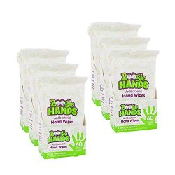 Hand Sanitizer Wipes by Boogie Wipes, Alcohol-Free, Hypoallergenic and Moisturizing Aloe, Boogie Hand Wipes for Adults and Kids, 18 Packs of 20 (360 Total Wipes)