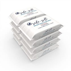 SAFE & SOFT Antibacterial Hand Sanitizer Wipes – Bulk Size | 72ct, (8-pack) | Alcohol Free | Light Fresh Scent | One-Step Sanitizing and Cleaning